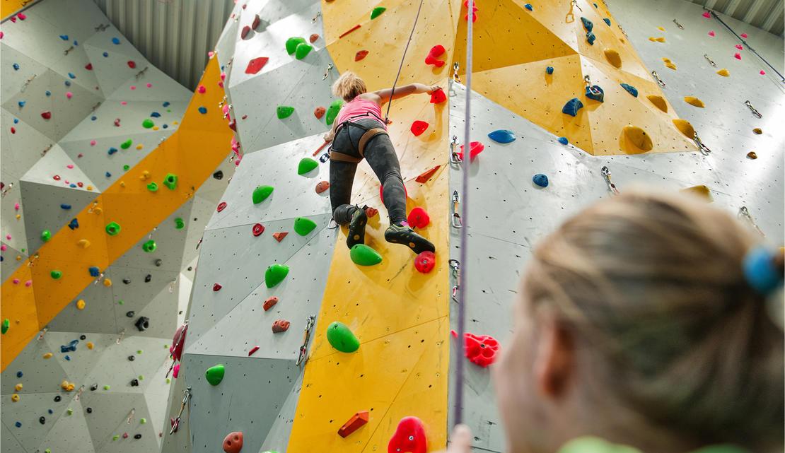 klatrer i vegg