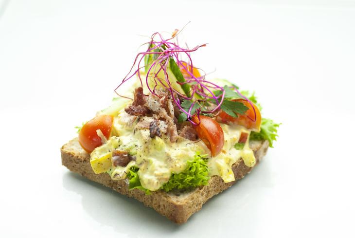 Kyllingsalat smørbrød