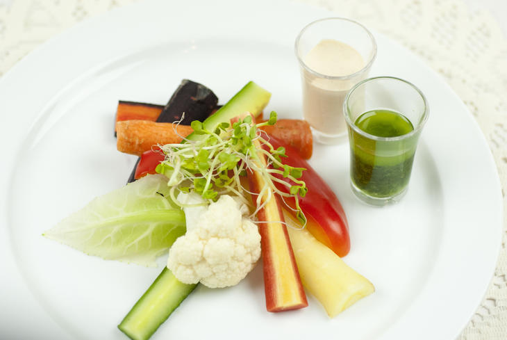 Grønnsaksfat m/dipp