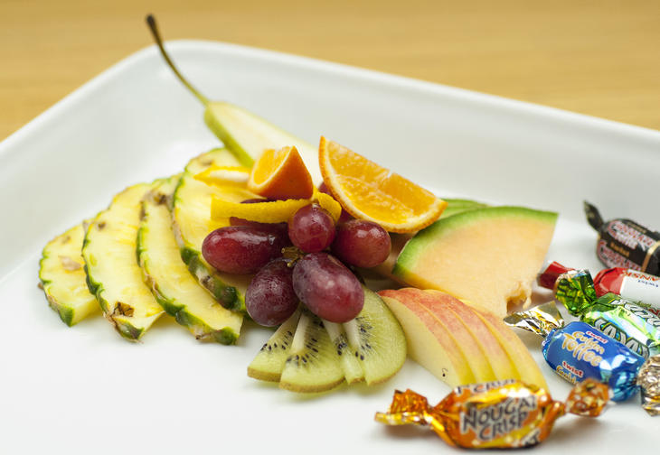 Fruktfat m/sjokolade
