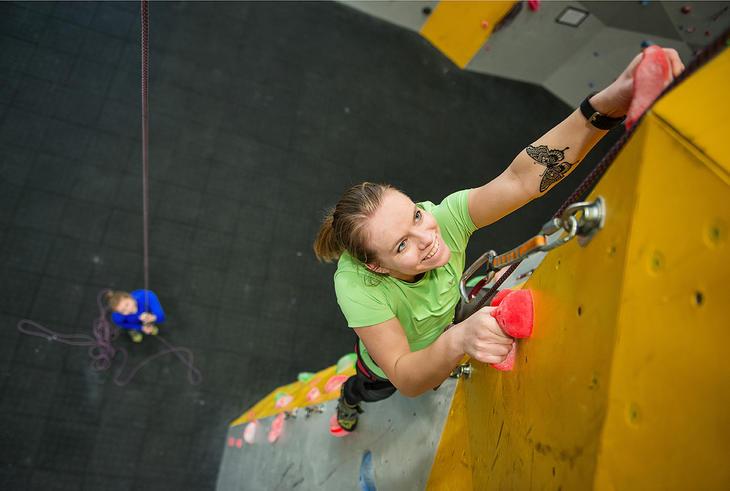 klatrer på vei opp